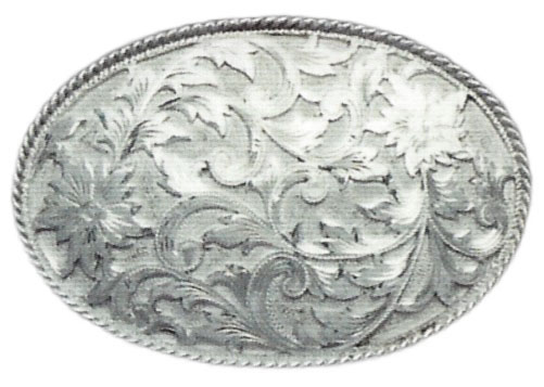 1052 OVAL REPOUSSE' BUCKLE