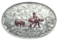1052 REPOUSSE' BUCKLE W/FIGURES