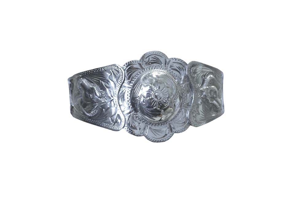 1004 SINGLE CONCHO BRACELET WITH HORSE HEAD ACCENT