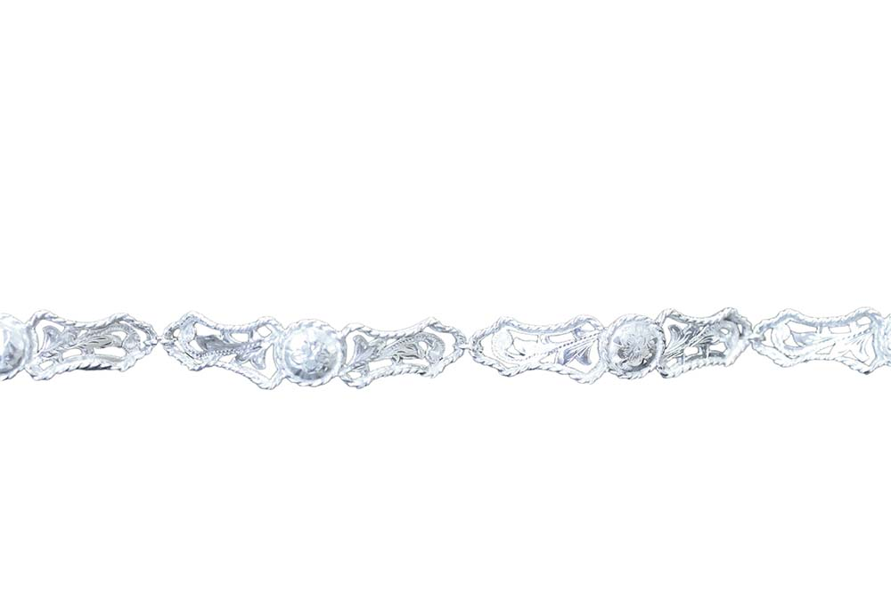 1013 LINKED FILIGREE  BRACELET