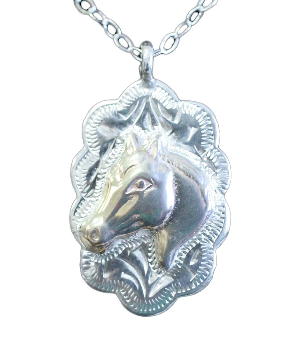 1003 HORSE HEAD ACCENTED NECKLACE