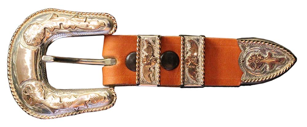 1001 - 4-PIECE 10K GOLD BUCKLE