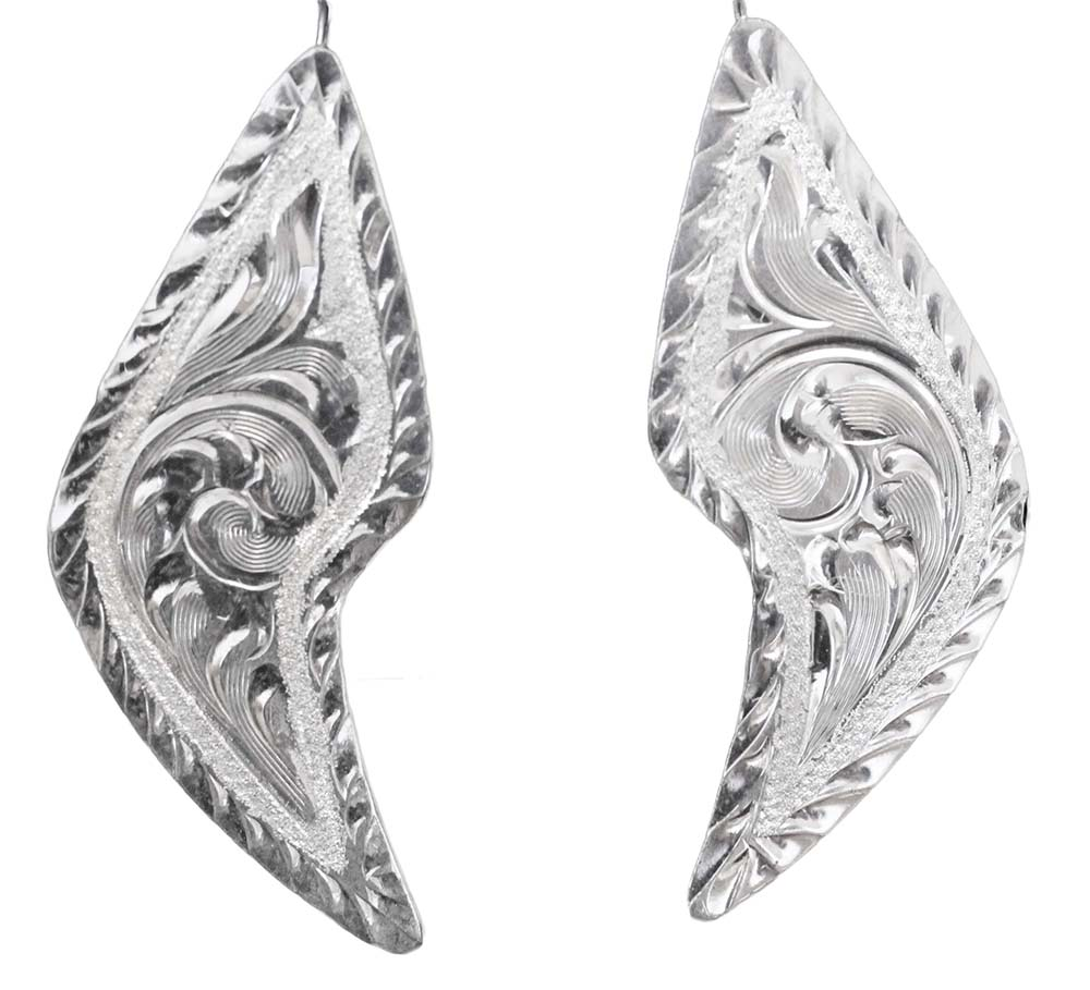1054 - ENGRAVED EARRINGS