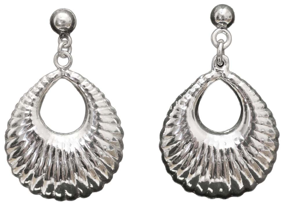 1074- POLISHED SHELL EARRINGS