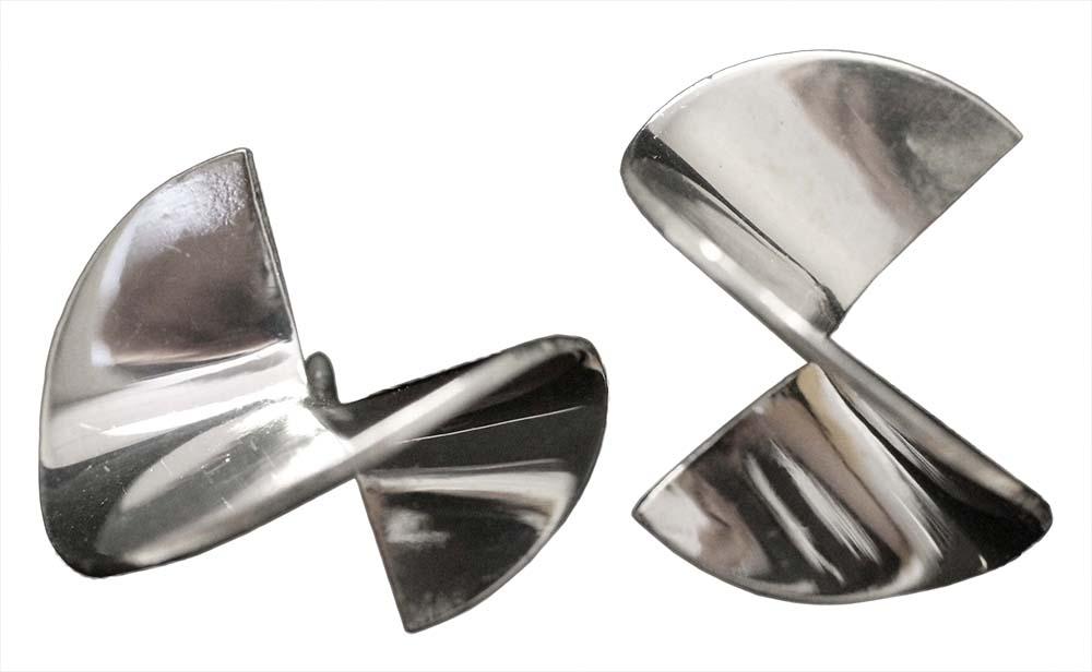 1076- POLISHED TWIST EARRINGS