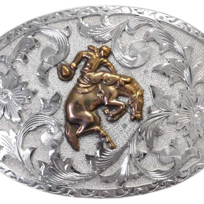 1030 OVAL REPOUSSE' WESTERN BUCKLE