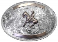 1043 LARGE TROPHY BUCKLE W/ROPE EDGE