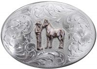 1054 LARGE OVAL WESTERN BUCKLE