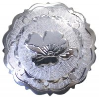 2007 FLORAL ENGRAVED CONCHO