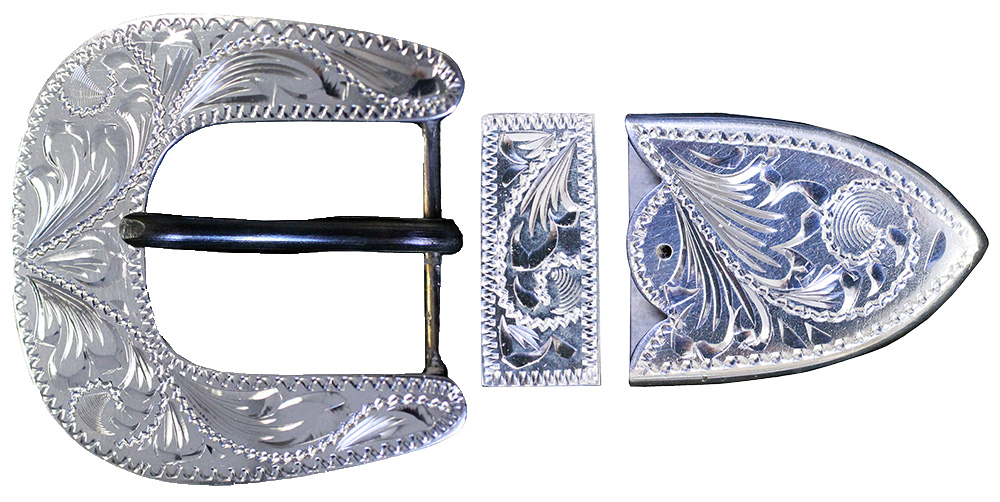 1006 STERLING SILVER 3PC BUCKLE
